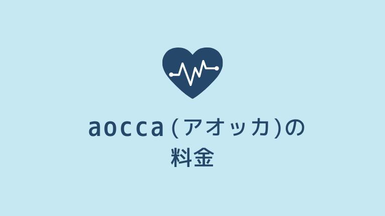 aocca(アオッカ)の料金