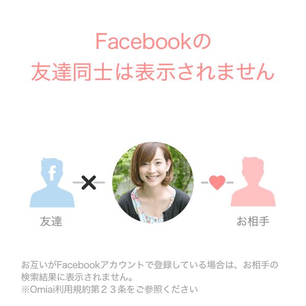 Omiai(オミアイ) フェイスブックの友達は表示されない